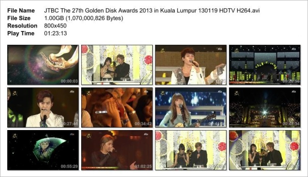 JTBC The 27th Golden Disk Awards 2013 in Kuala Lumpur 130119 HDTV H264
