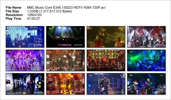 MBC Music Core E348.130223 HDTV H264 720P_Snapshot