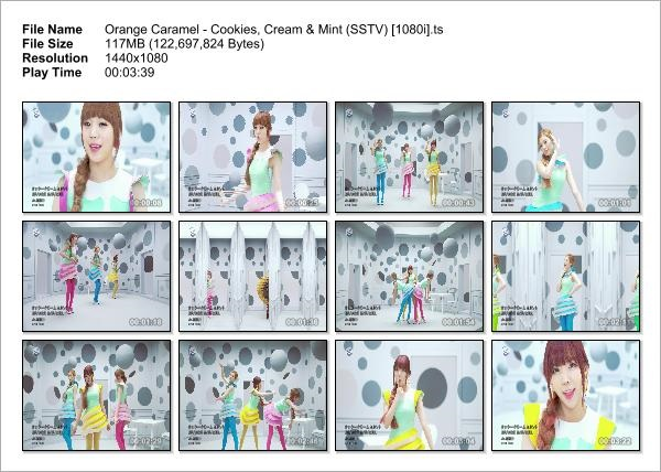 Orange Caramel - Cookies, Cream & Mint (SSTV) [1080i]_Snapshot