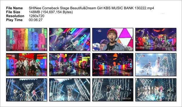 SHINee Comeback Stage Beautifu&Dream Girl KBS MUSIC BANK 130222_Snapshot