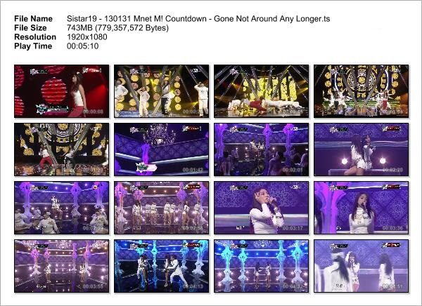 Sistar19 - 130131 Mnet M! Countdown - Gone Not Around Any Longer_Snapshot