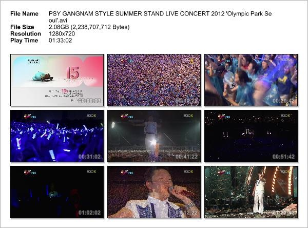 PSY GANGNAM STYLE SUMMER STAND LIVE CONCERT 2012 'Olympic Park Seoul'_Snapshot
