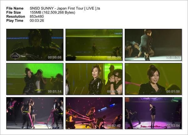 SNSD SUNNY - Japan First Tour [ LIVE ]_Snapshot